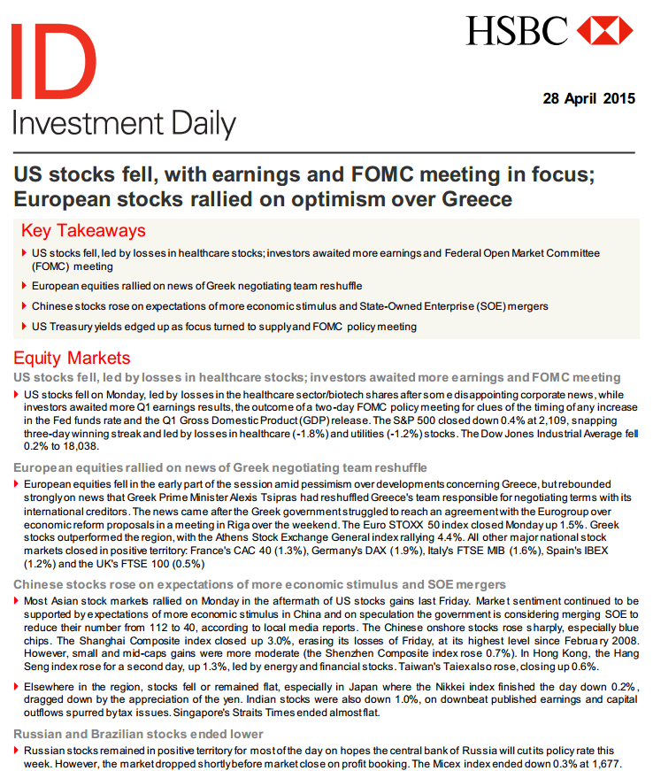 Forex daily news report
