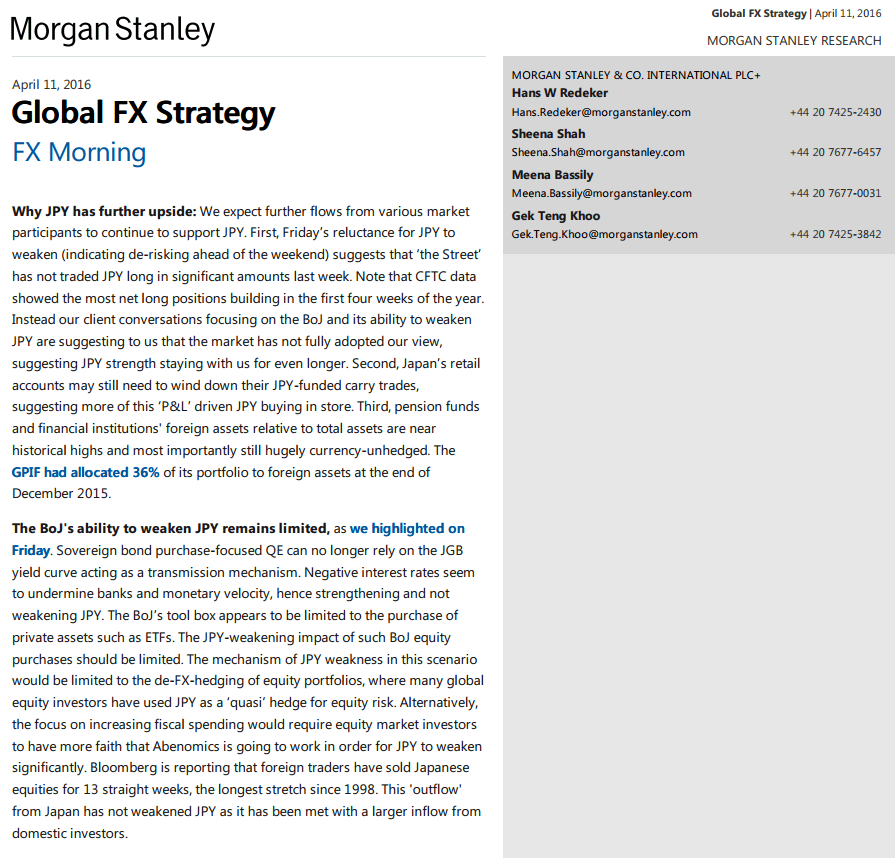Morgan Stanley FX Morning